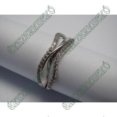 Fehérarany gyűrű, cirkónia kövekkel