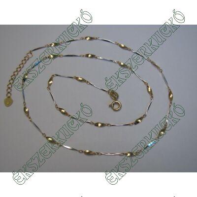 Sárga-fehér arany nyaklánc