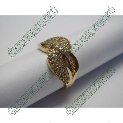 Aranygyűrű, cirkónia kövekkel
