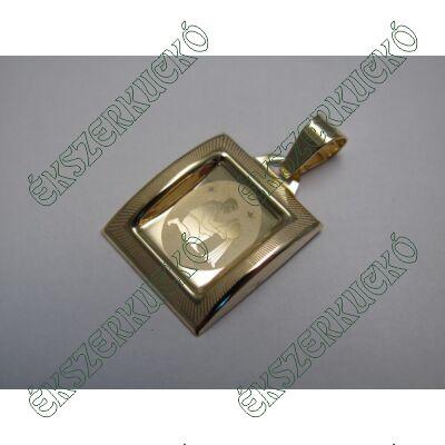 Arany horoszkópos medál - vízöntő