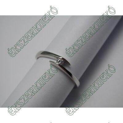 Fehérarany gyűrű, cirkónia kővel