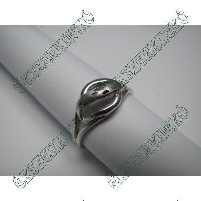 Fehér arany vésett gyűrű