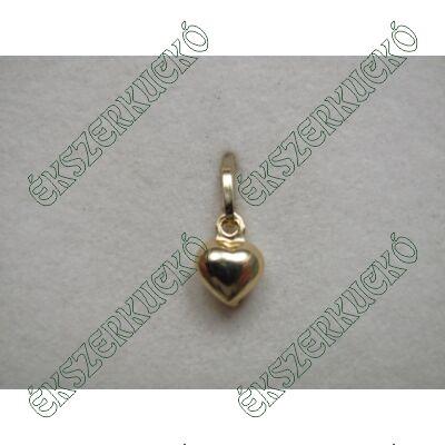 Sárgaarany szív medál