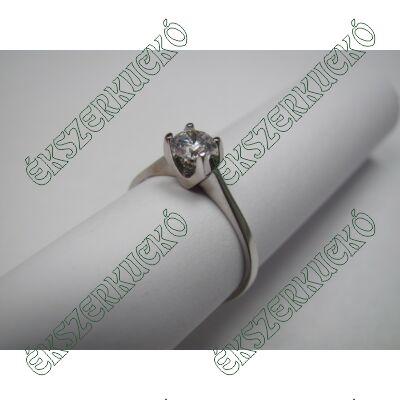 Fehérarany cirkónia köves gyűrű