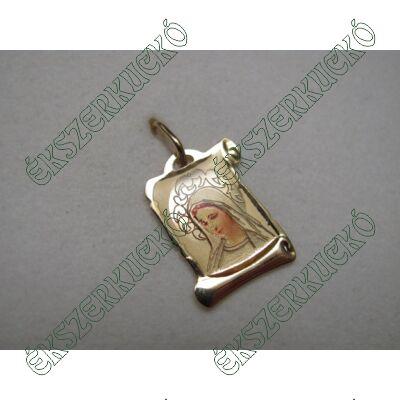 Sárgaarany festett Szűz Mária medál