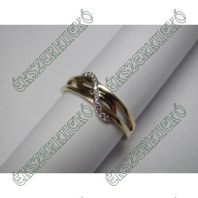 Sárgaarany cirkónia köves gyűrű