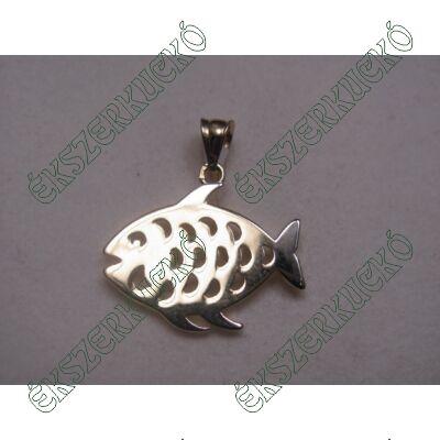 Sárga-fehér arany hal medál