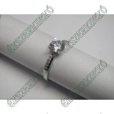 Fehér arany cirkónia köves gyűrű
