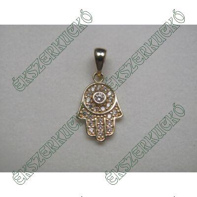 Fatima keze arany medál cirkónia kövekkel