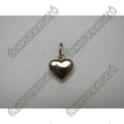 Sárga arany szív medál