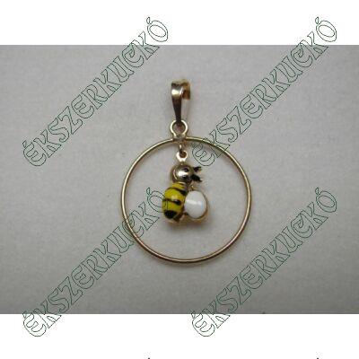 Sárga arany méhecske medál