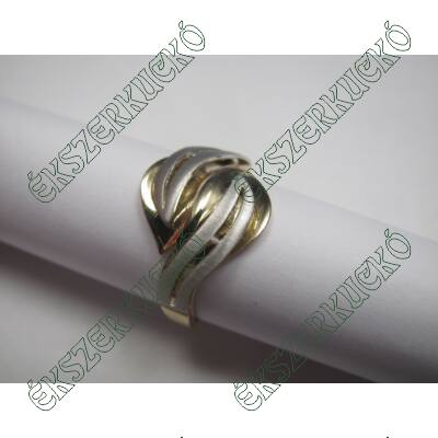 Sárga-fehér arany gyűrű