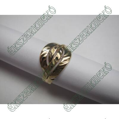 Sárga arany vésett gyűrű