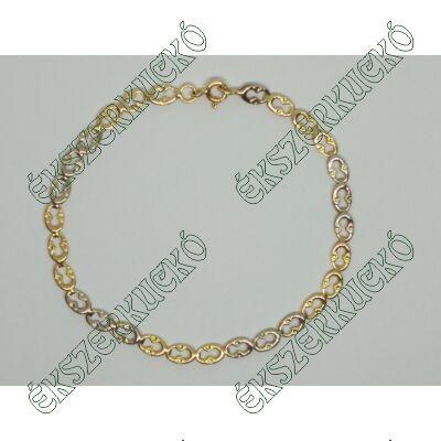 Sárga-fehér arany karkötő