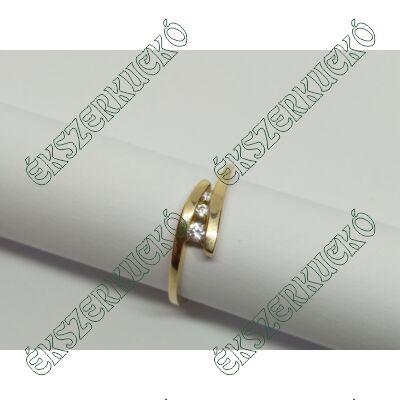 Sárga arany cirkónia köves gyűrű