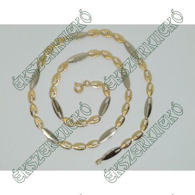 Sárga-fehér arany nyakék