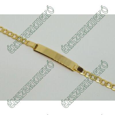 Sárga arany lapbetétes karkötő