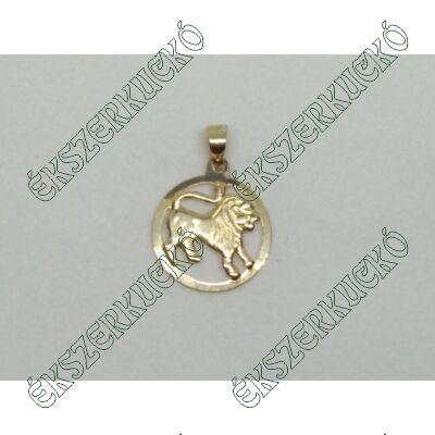 Sárga arany horoszkóp medál - oroszlán