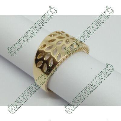 Sárga arany modern gyűrű