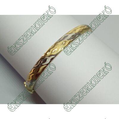 Sárga-fehér arany reif karkötő