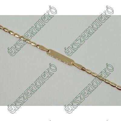 Sárga arany bébi lapbetétes karkötő