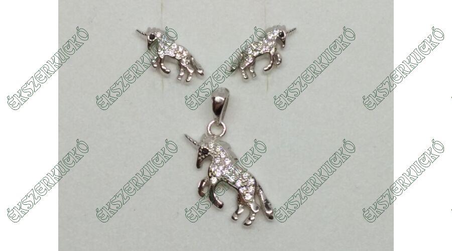 3092ad0992 925 sterling ezüst fülbevaló és medál szett - Ékszerkuckó Webáruház